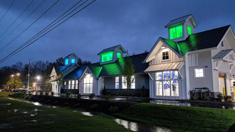 LED lighting, carwash, tunnel