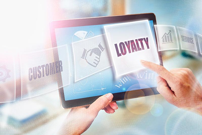 loyalty program, customer, tablet
