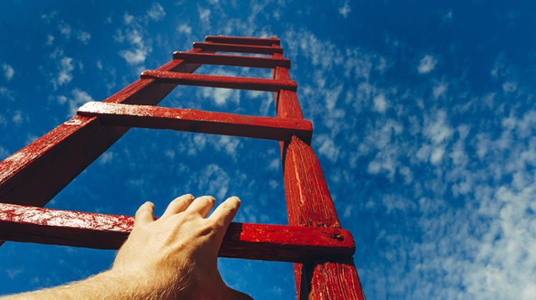 hand, ladder, motivation