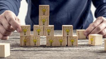 building blocks, ideas, construction, man