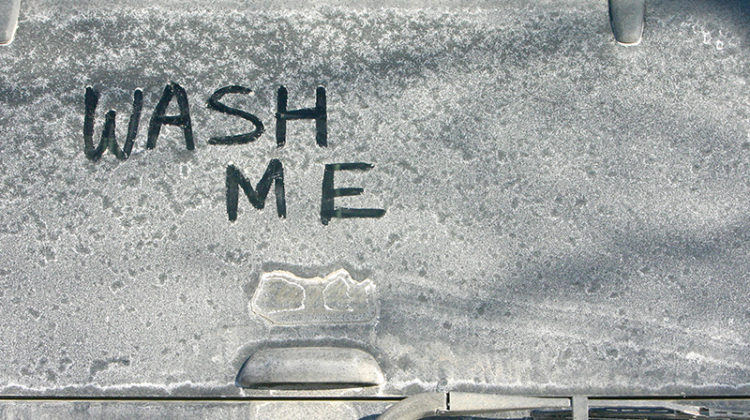salt, snow, winter, dirty, car, windshield, window