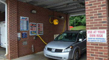self-serve carwash, dryer, bay, car, signage, drying