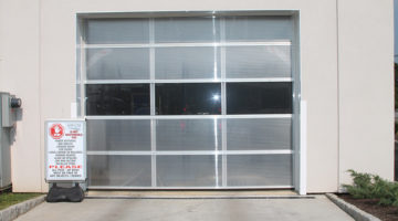 carwash doors, polycarbonate, door