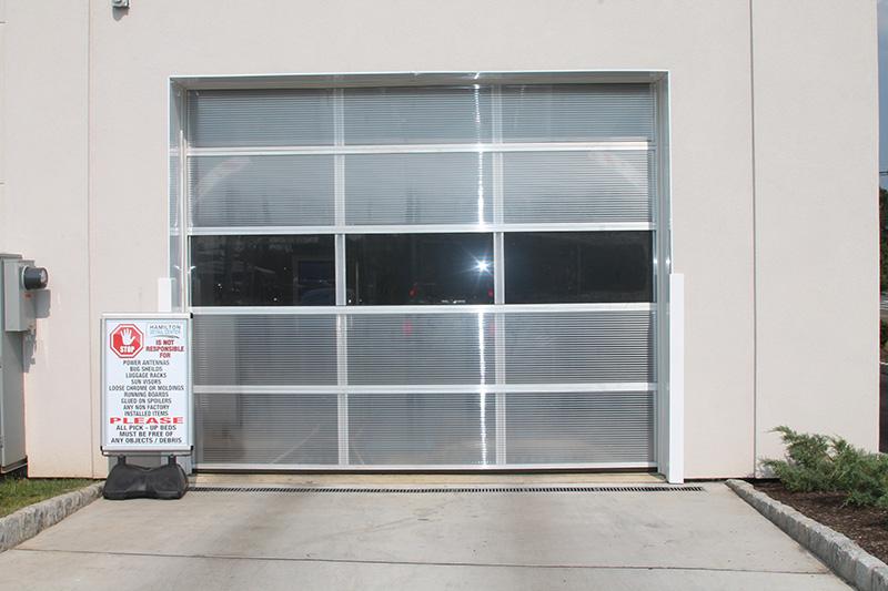 carwash doors, polycarbonate, door