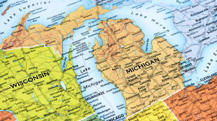 Michigan, map