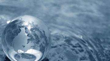 globe, earth, water