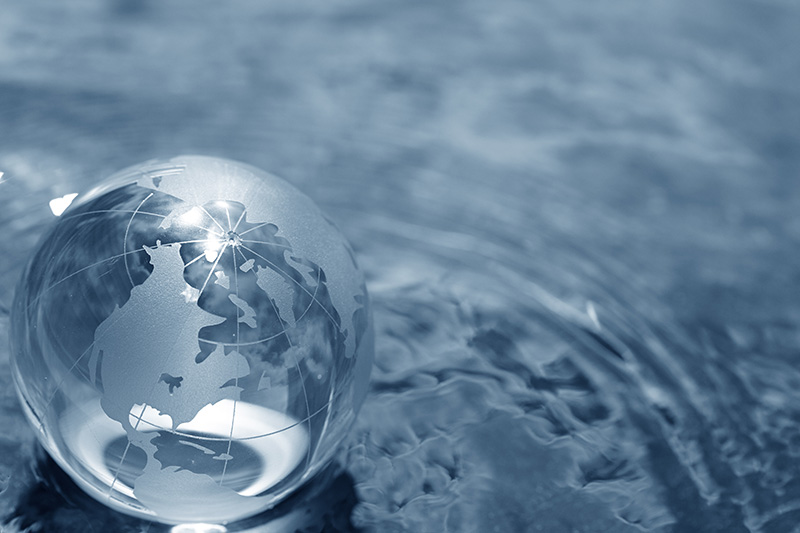 globe, earth, water