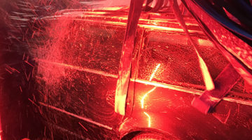 LEDs, lighting, carwash, car, brushes