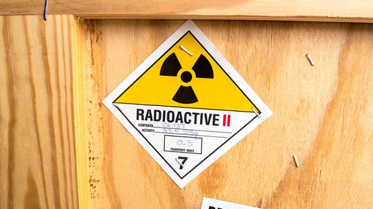 radioactive material, crate