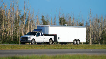 pickup truck, trailer