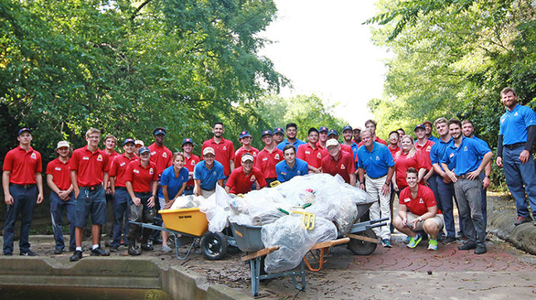 Autobell Car Wash, Creek cleanup