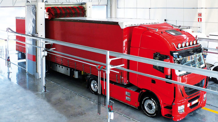truck wash, semi