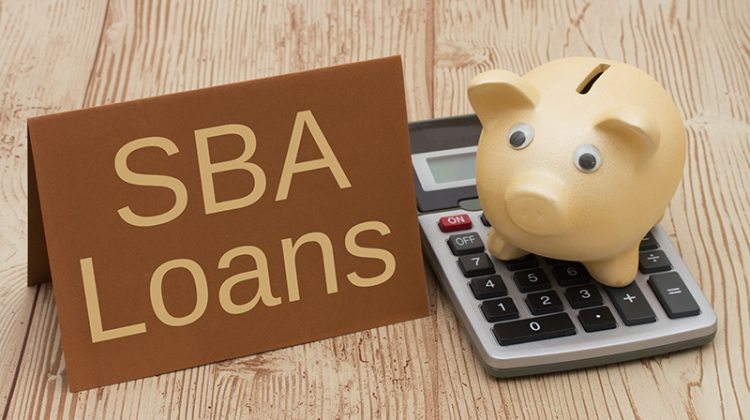 SBA loan, piggy bank, money, calculator