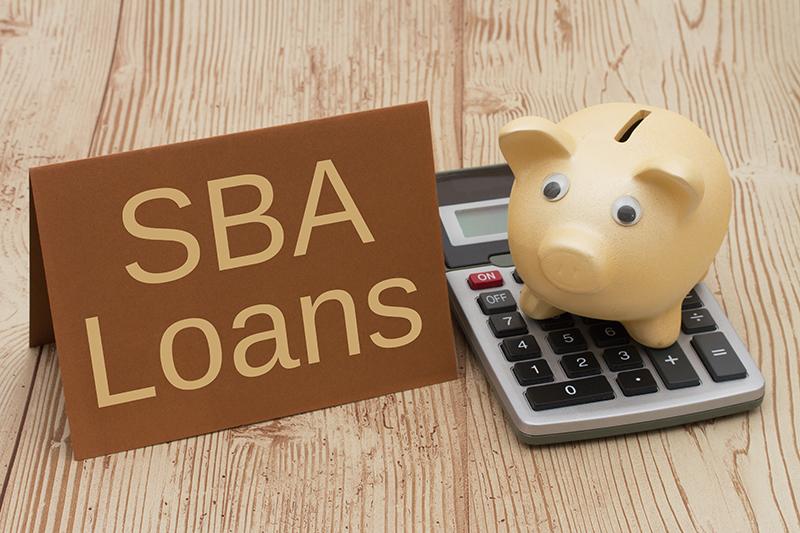 SBA loan, piggy bank, money, calculator