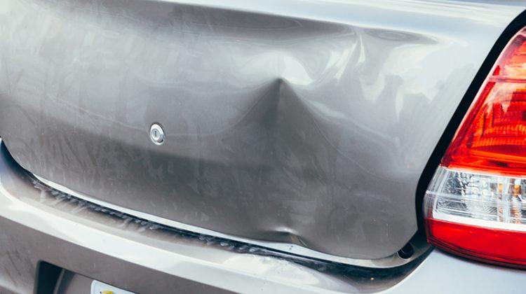 trunk, accident, damage, dent, car