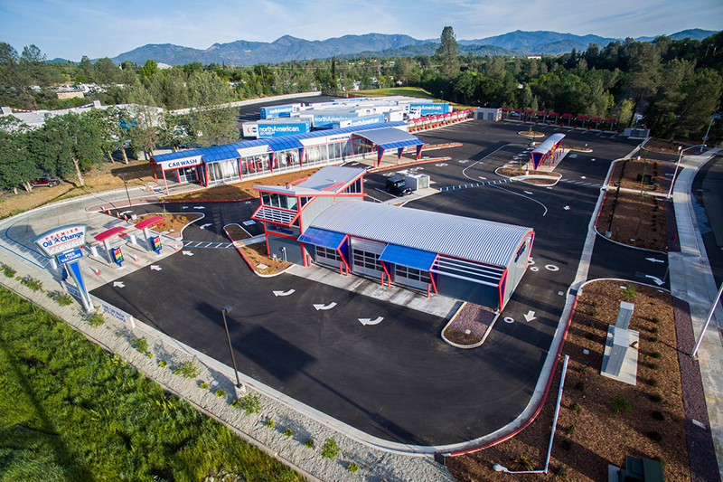 site design, carwash, oil change, quick lube