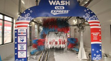 carwash, tunnel, arch, conveyor